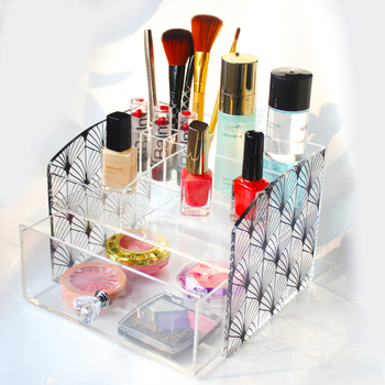 Small Beautiful Countertop Acrylic Cosmetic Organizer / Jewelry / Makeup  Storage Organizer