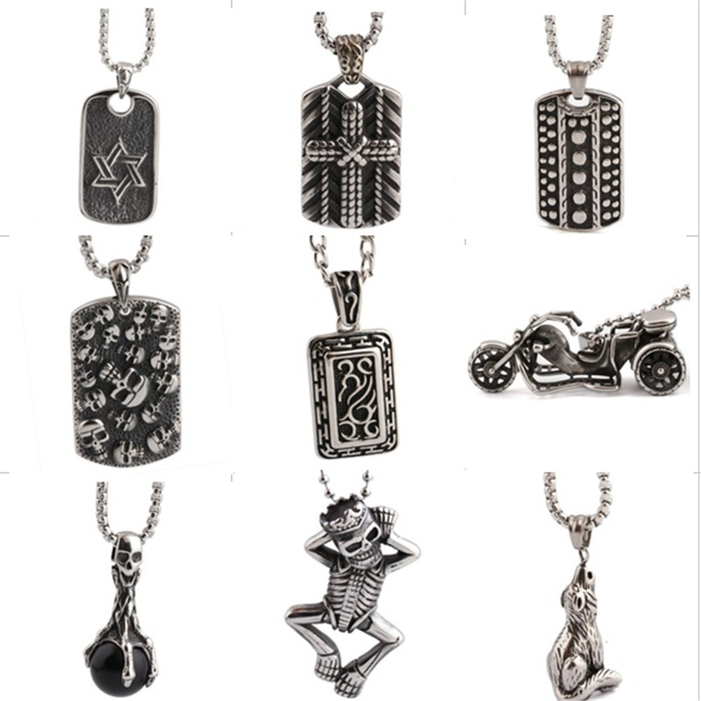 Stainless Steel Male jewelry Classic Axe Pendant Necklace Wholesale For Men