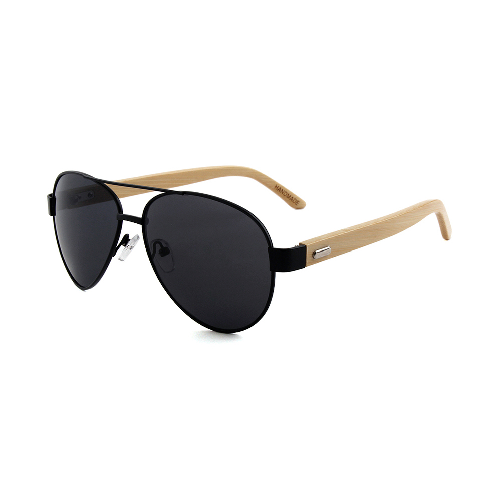 Hot big oculos de sol masculino bamboo sunglasses promotion, Custom colors
