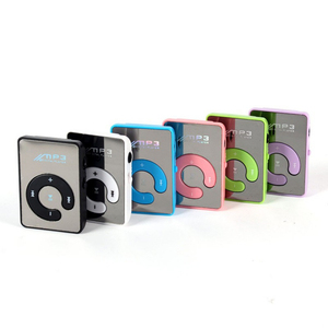 Small Mirror Portable Mini Clip Waterproof Sport Mp3 Music Player