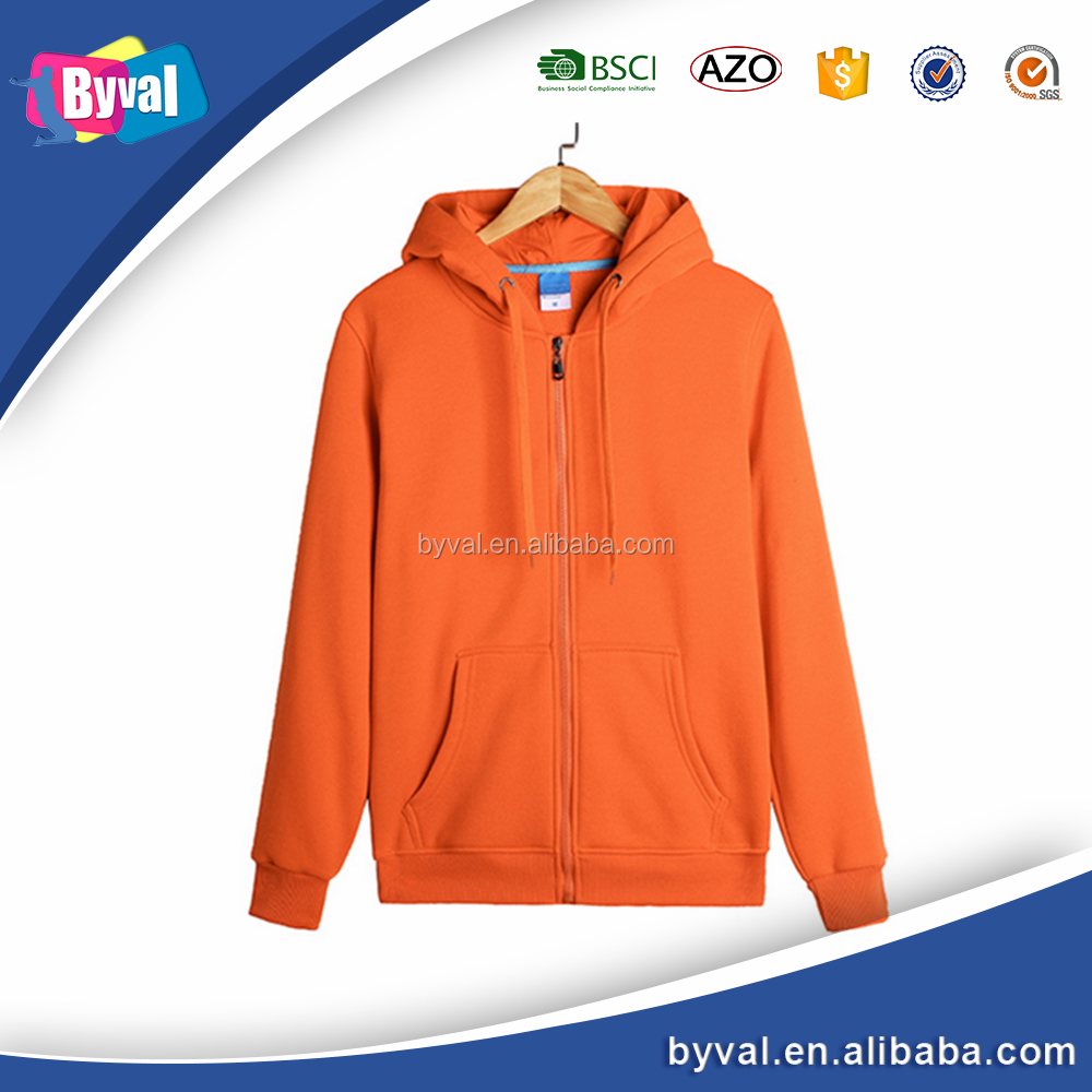 High Quality Men's Plus Long Sleeve Zip Hood
