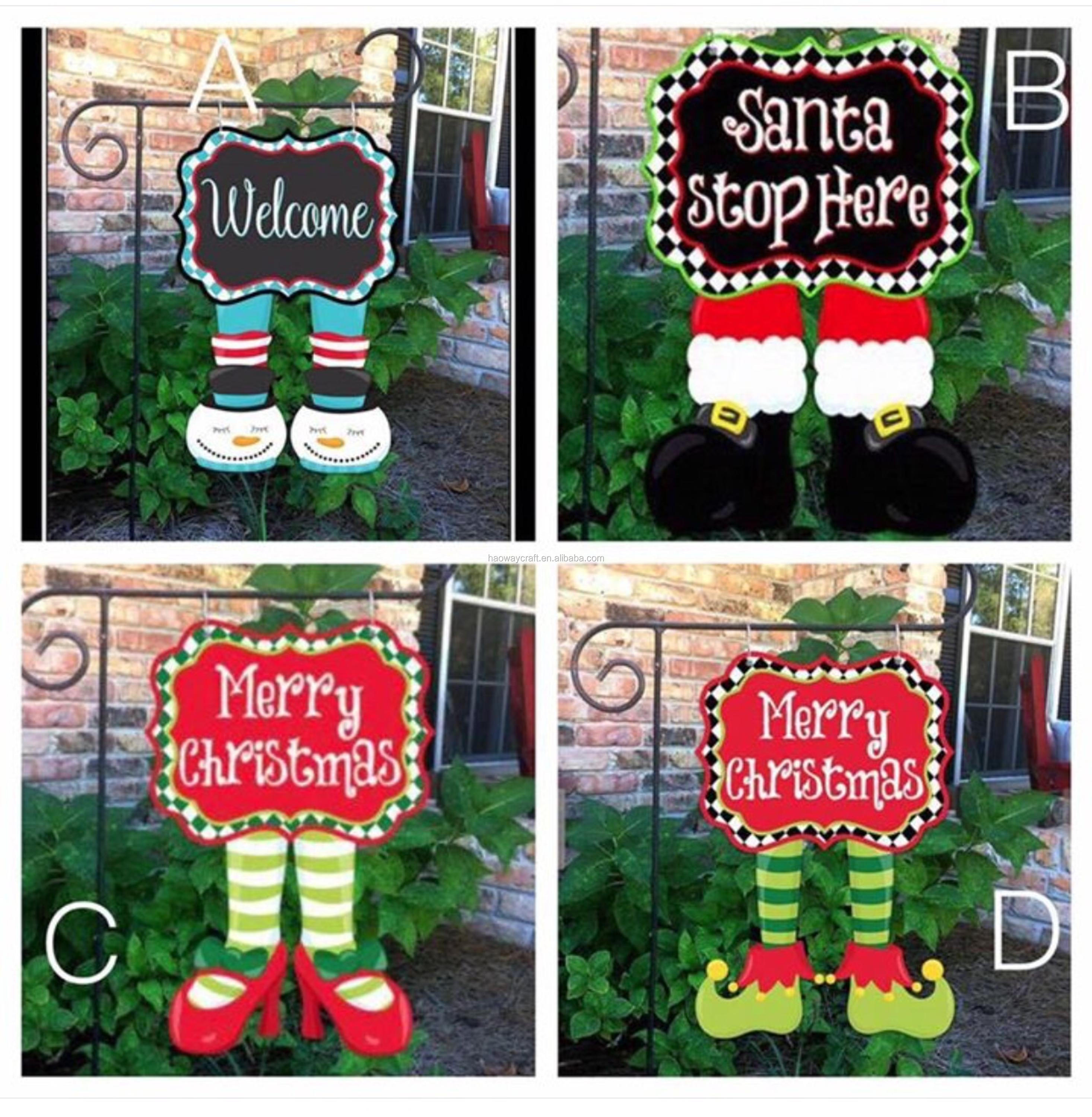 2017 Hot Sell Wholesale Blank Christmas Shoes Garden Flags Buy