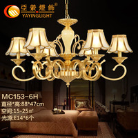 popular decorative brass pendant light , solid big copper pendant lamps hanging