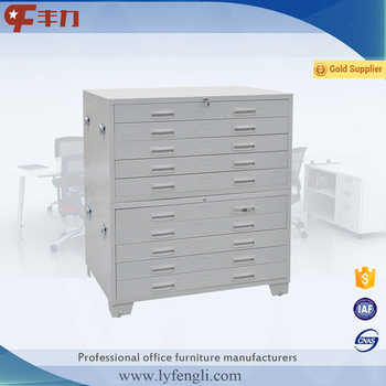 Steel Office Furniture Multilayer Flat File Map And Drawing Cabinet 5 Drawer