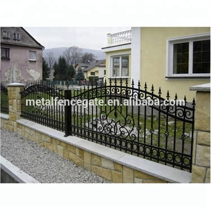Factory direct decorative cheap wrought iron fence panels for sale