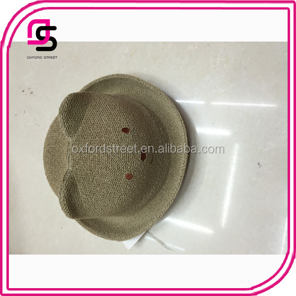 2017 fahsion latest popular straw paper beach hatcute children welcome hats
