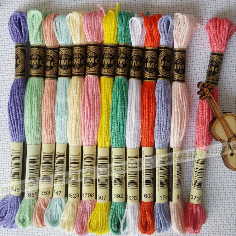 DMC colors cross stitch floss cotton thread silk and cotton threads embroidery thread