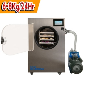 6-8Kg Fully Stainless Steel Mini Small Food Lyophilizer Freeze Dryer