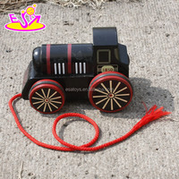 2016 new design kids wooden toy locomotive,fashion children wooden toy locomotive,baby wooden toy locomotive W05C041