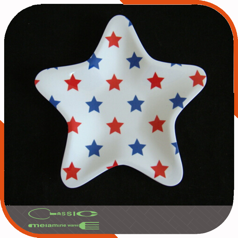 the star shape plastic melamine plate