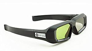 Hindotech 144hz Rechargeable 3D Active Shutter Glasses For BenQ Acer ViewSonic LG NEC Optoma DLP-LINK 3D Projectors