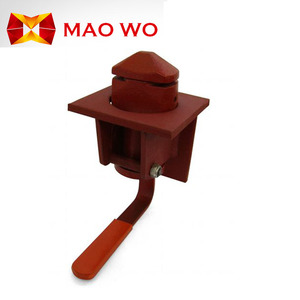 semi automatic flatbed trailer container twist lock