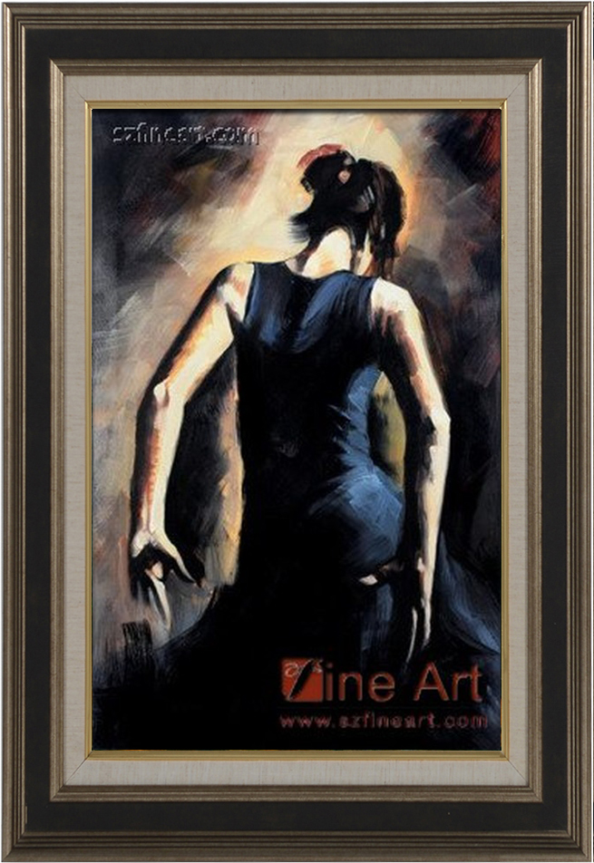 New design modern sexy flamenco dancing oil painting