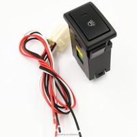 ON-OFF Push Button Switch laser engraving symbol with wiring harness for Suzuki isuzu d-max fog lamp switch