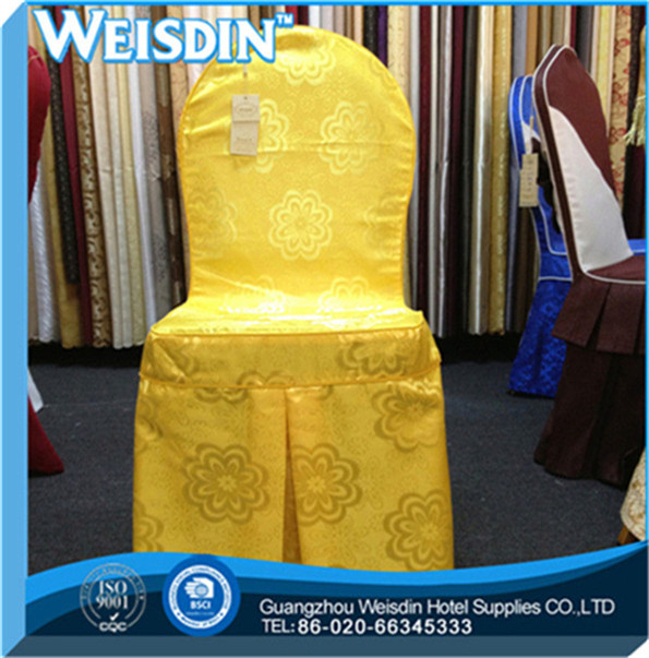 wedding hot sale 100% polyester front arch chair cover white lycra cover chair
