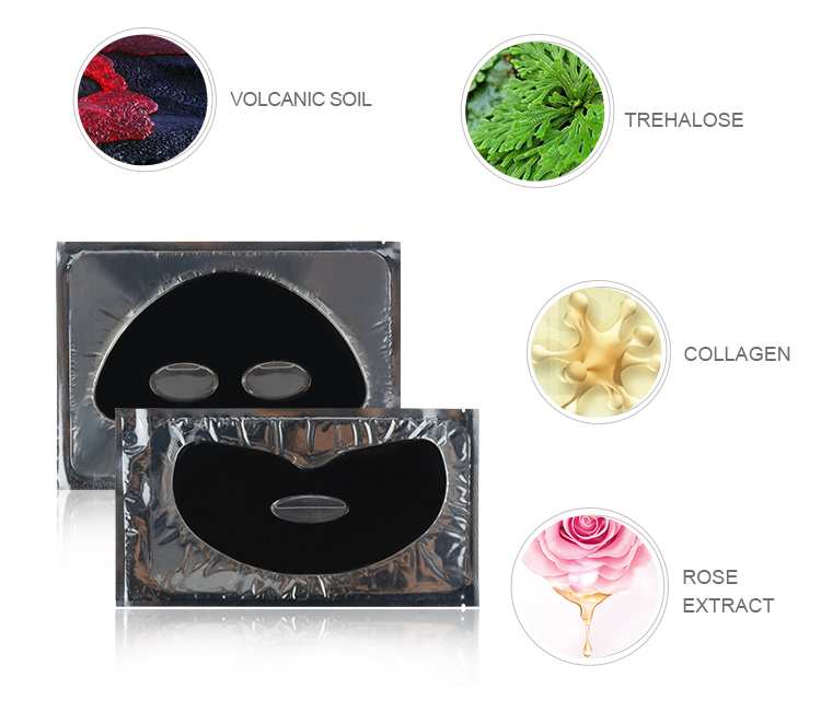 Mondsub Black mud mask of collagen facial mask for whitening and brightening