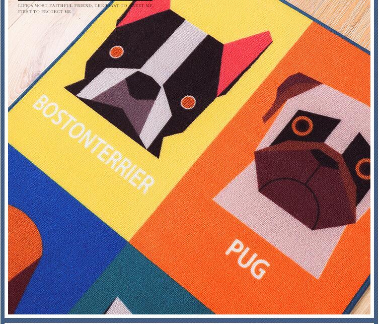 1b8d031f7359f HOT Dog Print Carpet Tapete Strip Floor Mat Absorbent Door Non-slip Mats  Bedside Blanket For Kitchen Bathroom Room Alfombras - us310