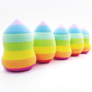 Rainbow color rainbow powder makeup sponge gourd drop of hydrophilic based gourd powder makeup tools