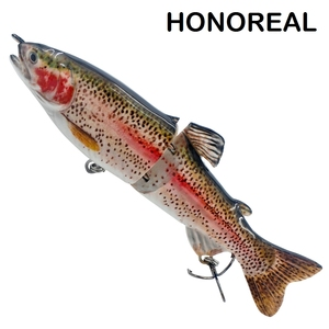 HONOREAL Hard Bait 2 Section Stocks Lake Trout Fishing