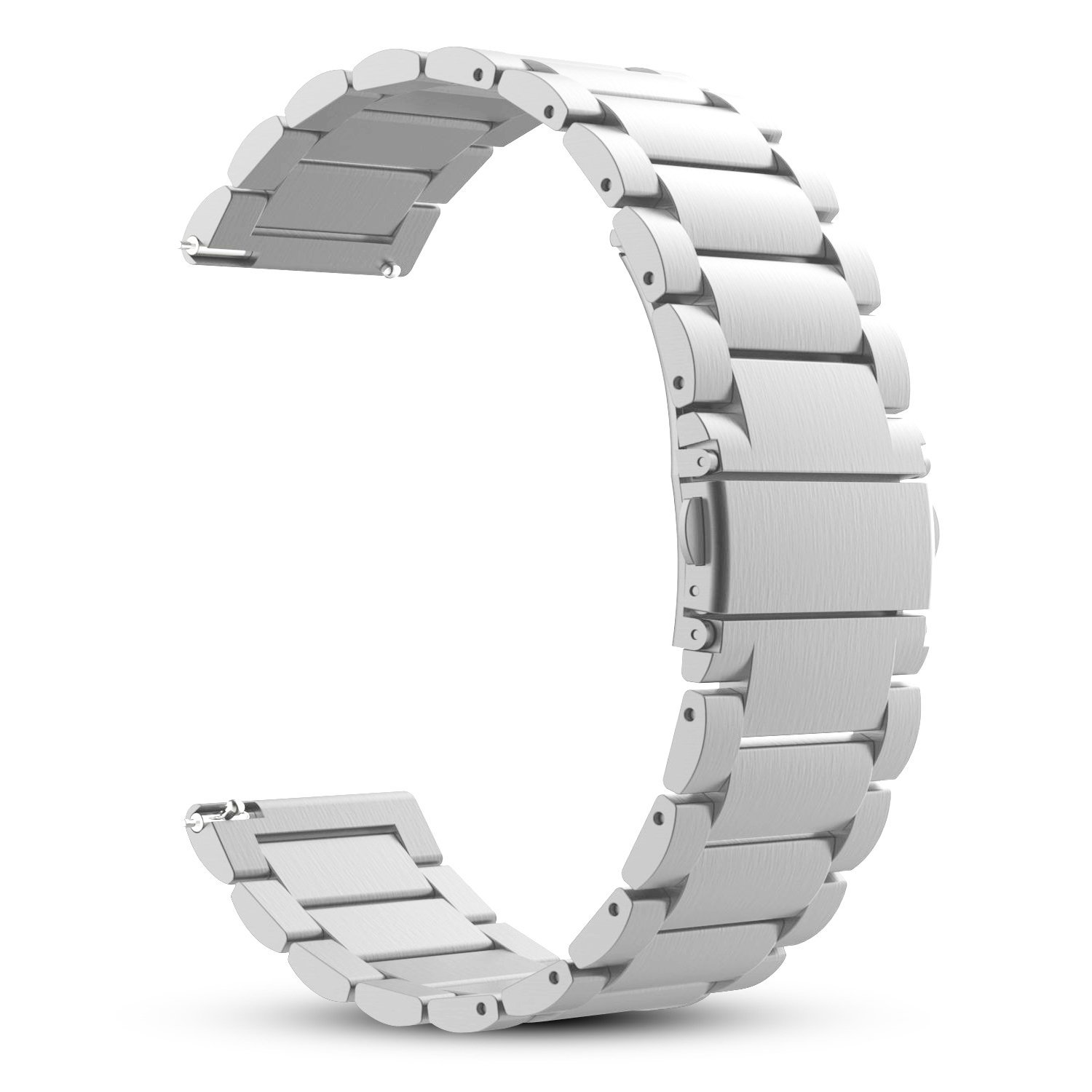 Fintie Band for Gear S3 / Galaxy Watch 46mm, 22mm Quick Release Stainless Steel Metal Replacement Strap Bands for Samsung Gear S3 Frontier / S3 Classic/Galaxy Watch 46mm Smartwatch - Silver