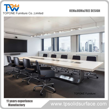 High End Office Furniture Power Outlet Modern Conference Table Designs