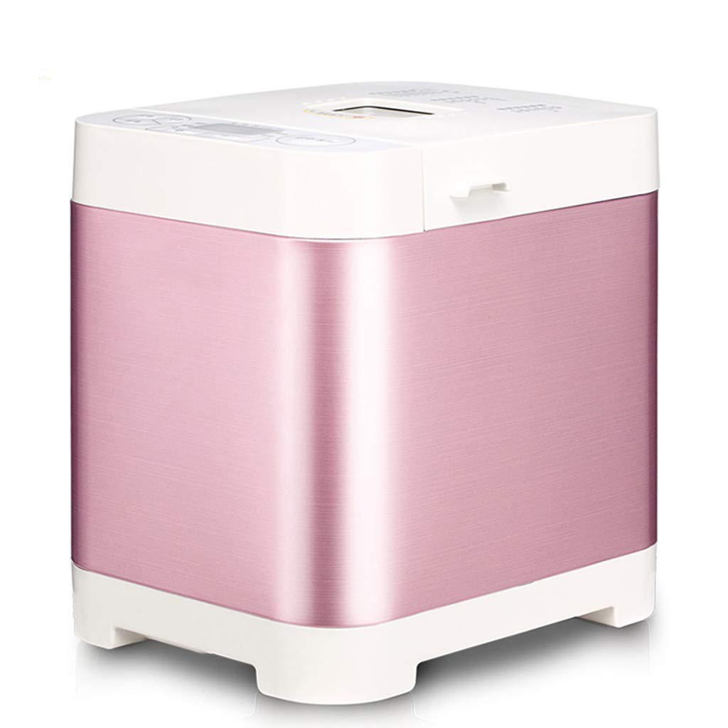 Bread machine, pink bread machine, bread making, home multi-function kneading machine, breakfast machine, convenient breakfast (Color : Pink, Size : 282127cm)