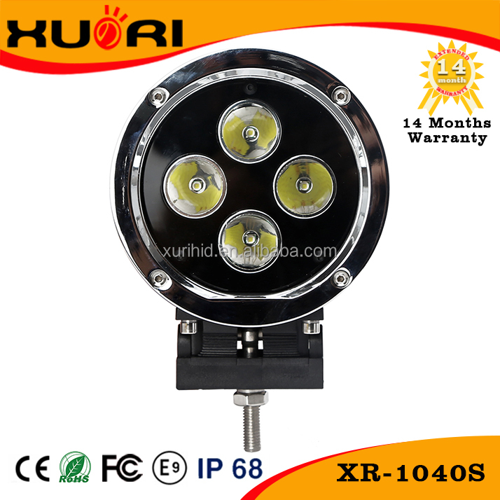 "Hot sale high power 4X4 led work light 12v round off road 5.5""car led 40w"
