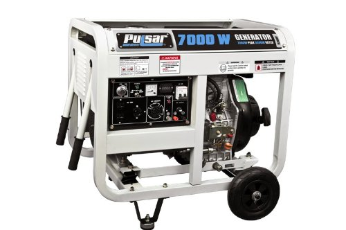 Pulsar PG7000DOF Diesel Powered Generator with Open Frame, 6500-watt Output
