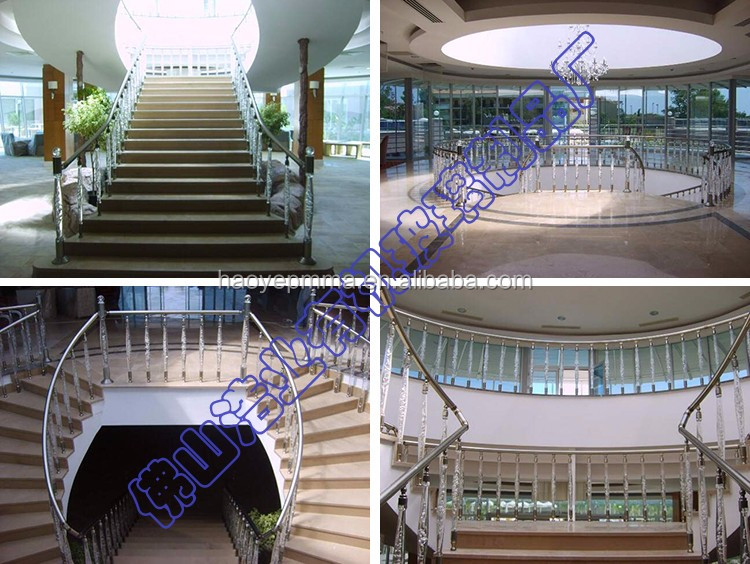 HAOYE factory supply crystal hotel corridor guardrail pillar