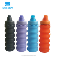 Designed for TRAVEL and OUTDOOR Foldable Water Bottle Food-Grade Silicone Collapsible BPA Free Eco-Friendly Sport Water Bottles