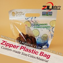 New Product breathable PE plastic Fruit bags with zipper