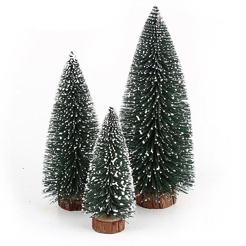 Pine Needles Flocking Snow Christmas Tree Mini Christmas Tree Ornaments Christmas Decoration (40cm)