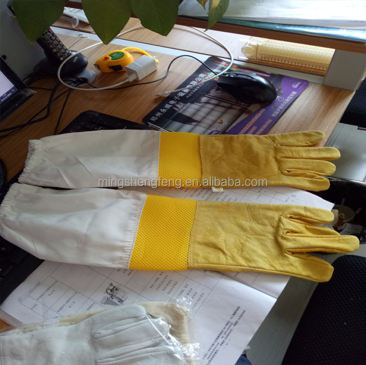 Protective Hand Glove,Sheep Leather Safety Beekeeping Gloves