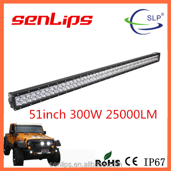 High performance IP67 light bars 50inch 300W super power double rows led light bars
