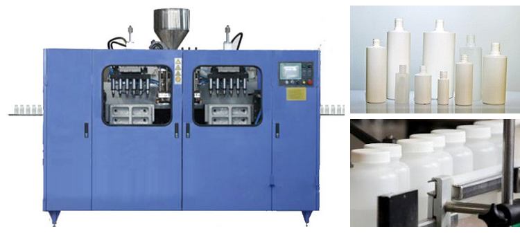 PLC control 1 liter low price small rotary baby feeding bottle plastic jerry can production blow molding making machine
