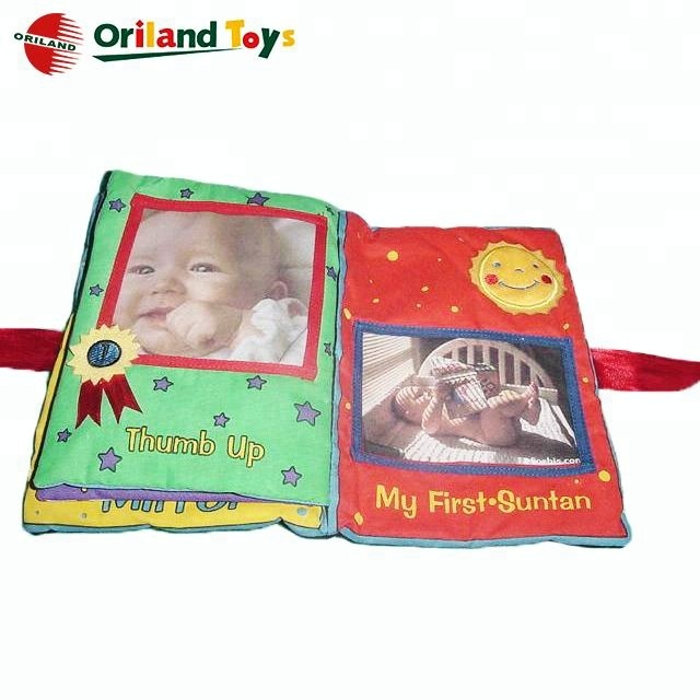 Oem Wholesale Soft Plush Baby Photo Album Fabric Baby Scrapbook
