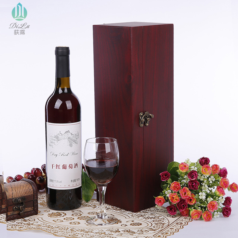 Excellent Customize wooden red Wine Box single/double/four/six bottles box