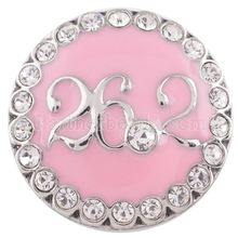KC5281 partnerbeads 18-20MM rhinestone SNAP om pendant alloy om charms