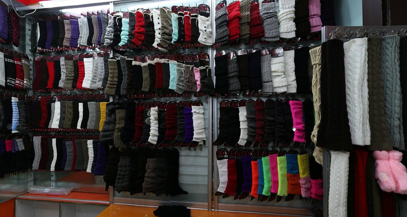 Bahan Katun Lucu Wanita Di Atas Lutut Tinggi Kaus Kaki Musim Dingin Kaki Hangat