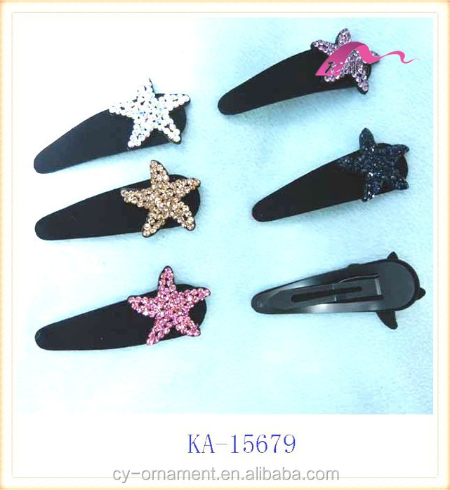 ladies star shape many rhinestone colorful goody hair clips