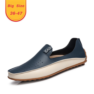 Factory cheap price wholesale customizable logo fashionable men's leather loafers 2019