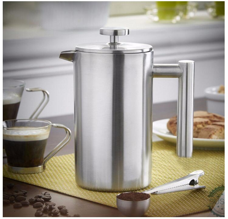 Hot sale plastic borosilicate high quality stainless steel coffee plunger pot