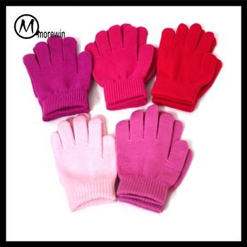 Morewin Bulk Wholesale Girls Winter Gloves Warm Soft Children Gloves