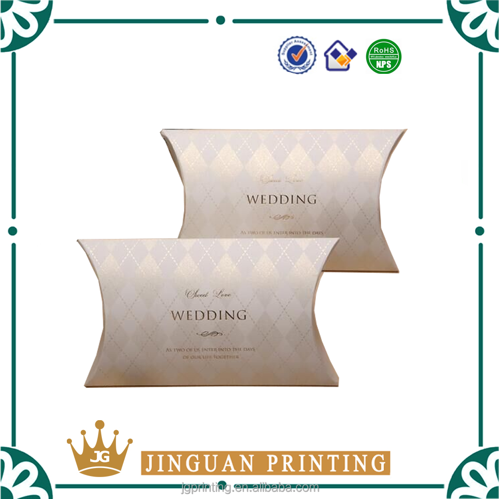 2016 High quality customized pillow boxes package wholesale
