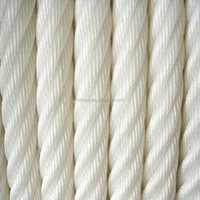 ATLAS nylon+fiber flat rope twisted 6strands 40mm