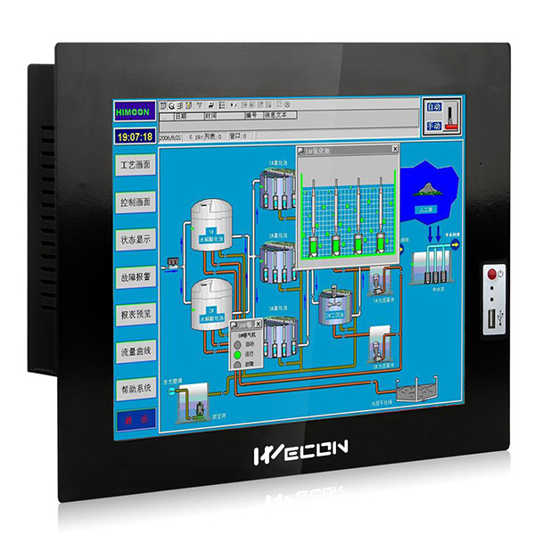 12 inches industrial panel pc WPC-120403A running window os 7 8 10 xp linux