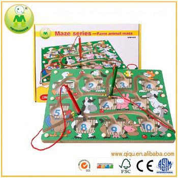 Grosir Hewan Pertanian Labirin Permainan Mainan Kayu Buy Product