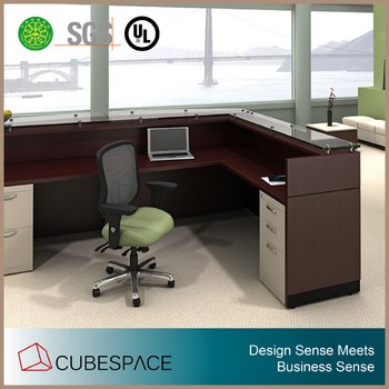 L Shape Modern Office Furniture Reception Desk