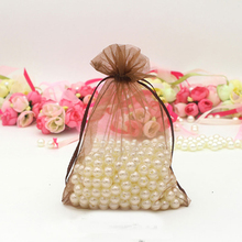 2017 New design good quality organza drawstring gift bag with