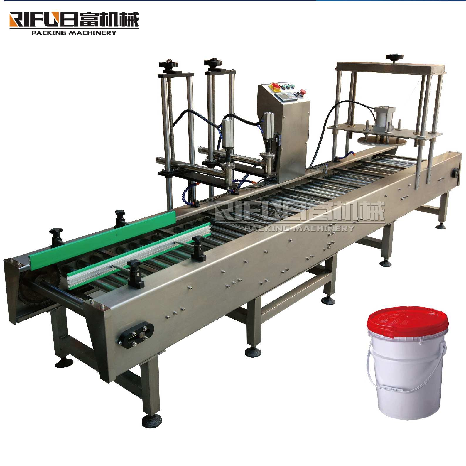 Beverage double heads oil production line weight filling capping machine with Semi automatic